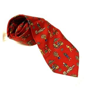 Salvatore Ferragamo necktie Asian theme